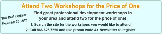 TWO Workshops for the Price of ONE